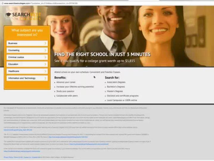 Find the right school in just 3 minutes