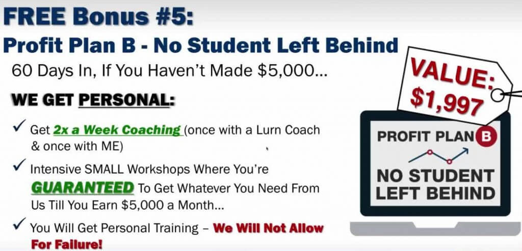 Bonus 5 Profit Plan B - No Student Left Behind