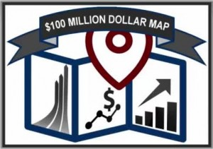 100 million dollar map