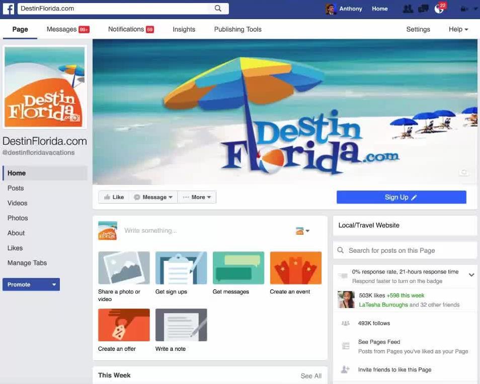 Destin Florida fan page