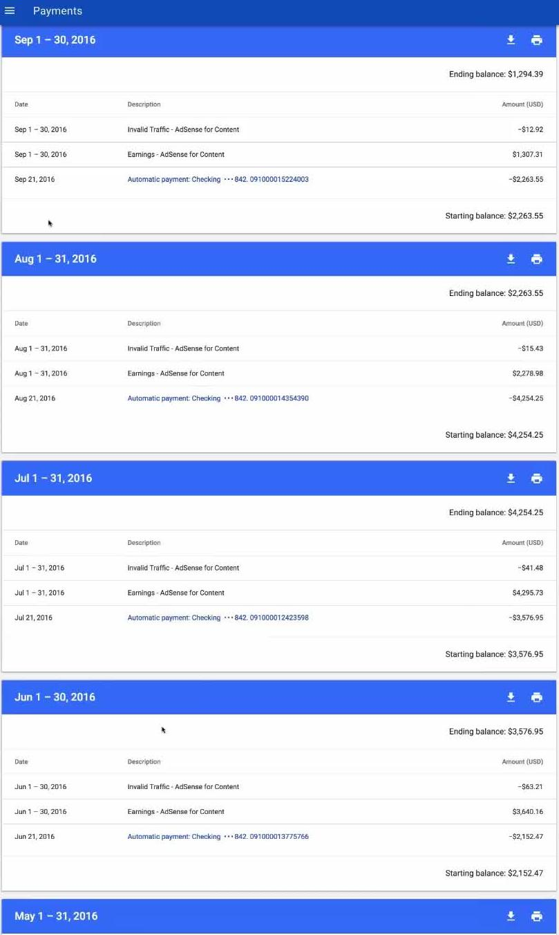 Adsense Payment Proof