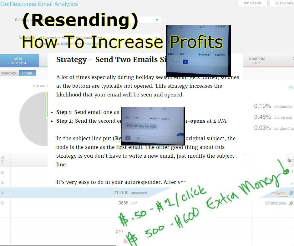 (Resending) How To Increase Profits