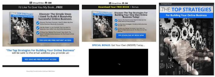 Landing Page, TY Page, Book
